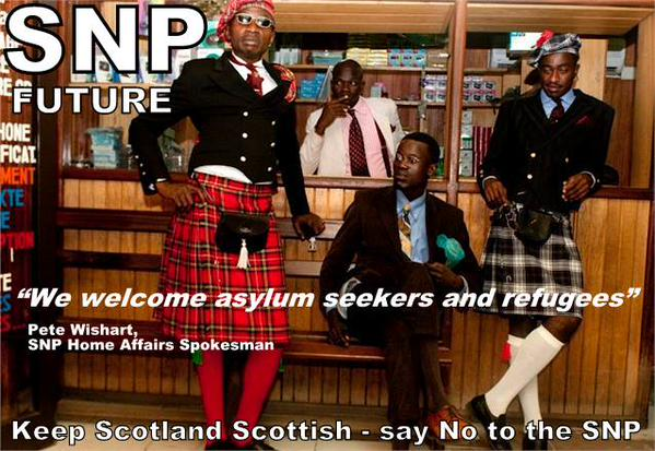 BNP Nick Griffin SNP tweet