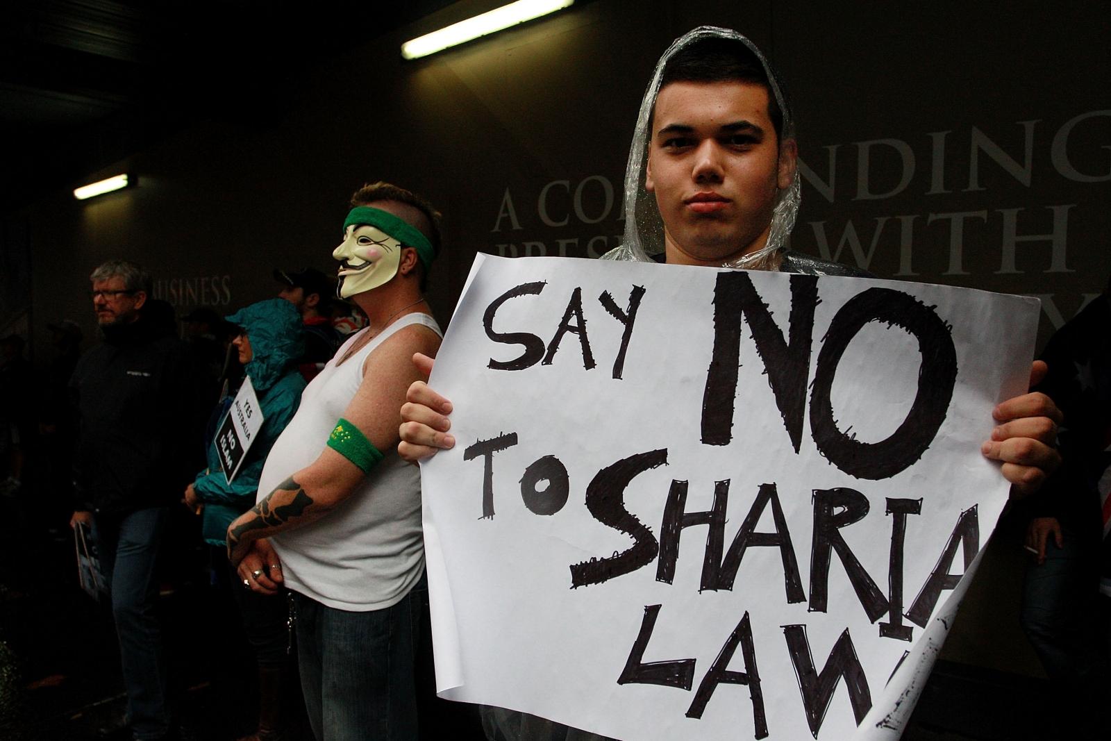 Reclaim Australia protesters