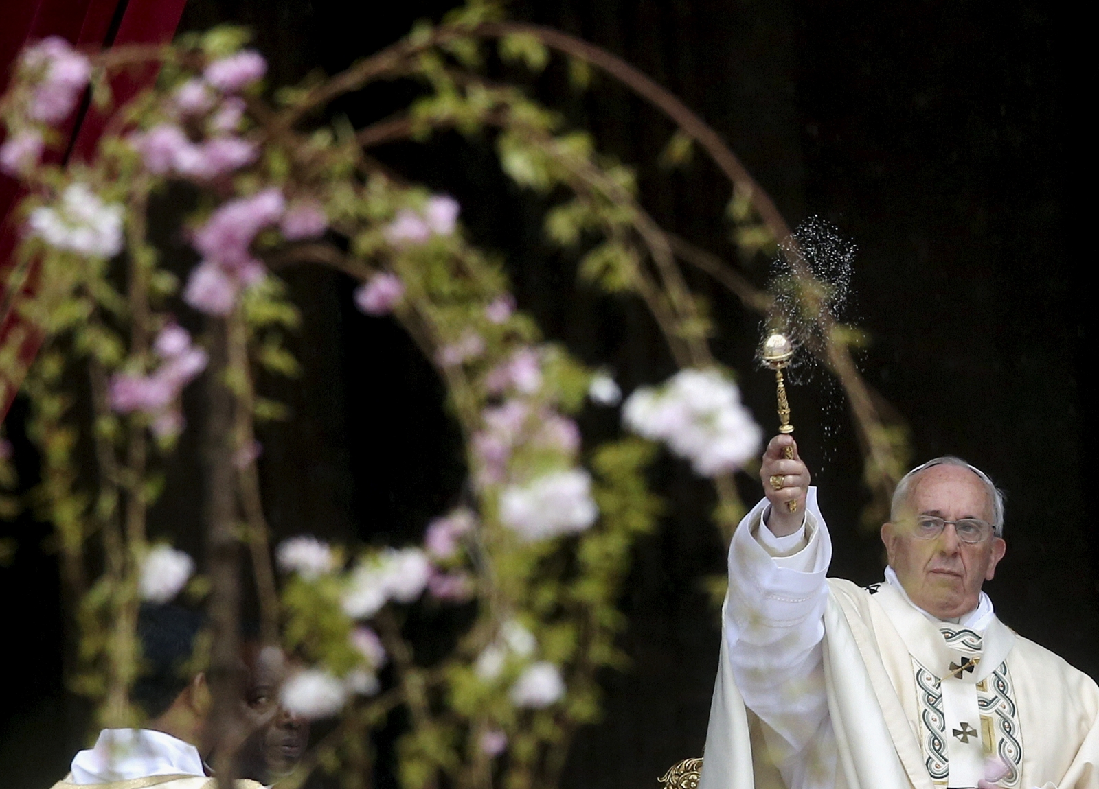 Pope Francis at Easter Mass