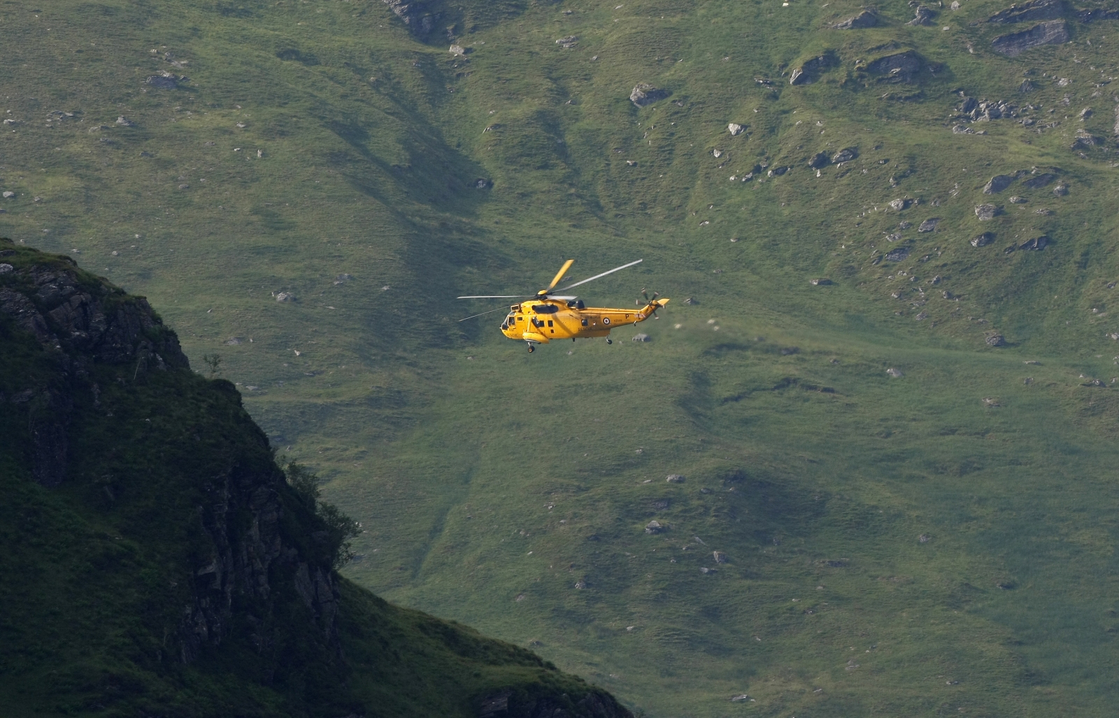 Plane crash rescue in Scotland