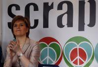 Nicola Sturgeon SNP leader Trident demo