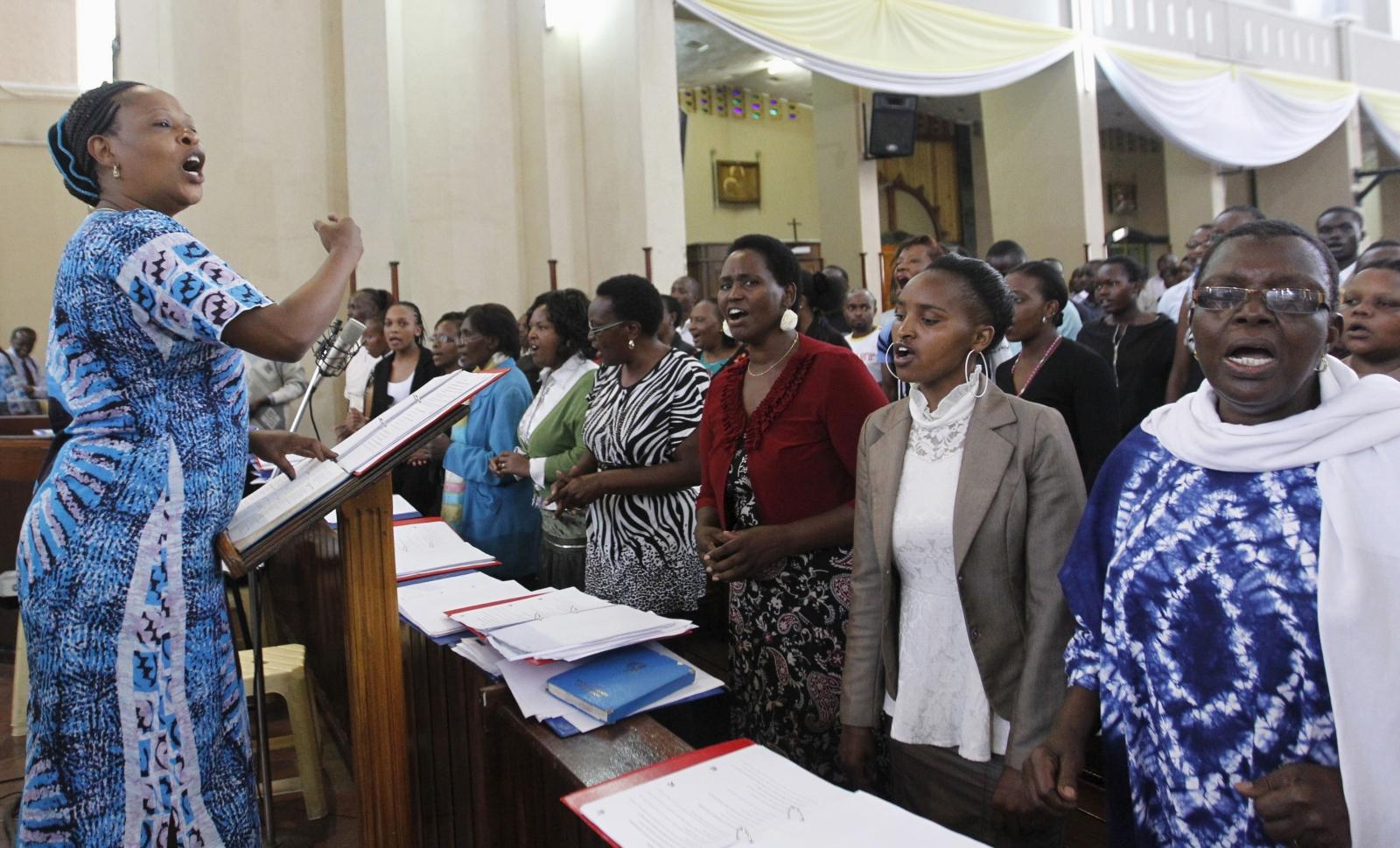 An Easter mass in Garissa, Kenya