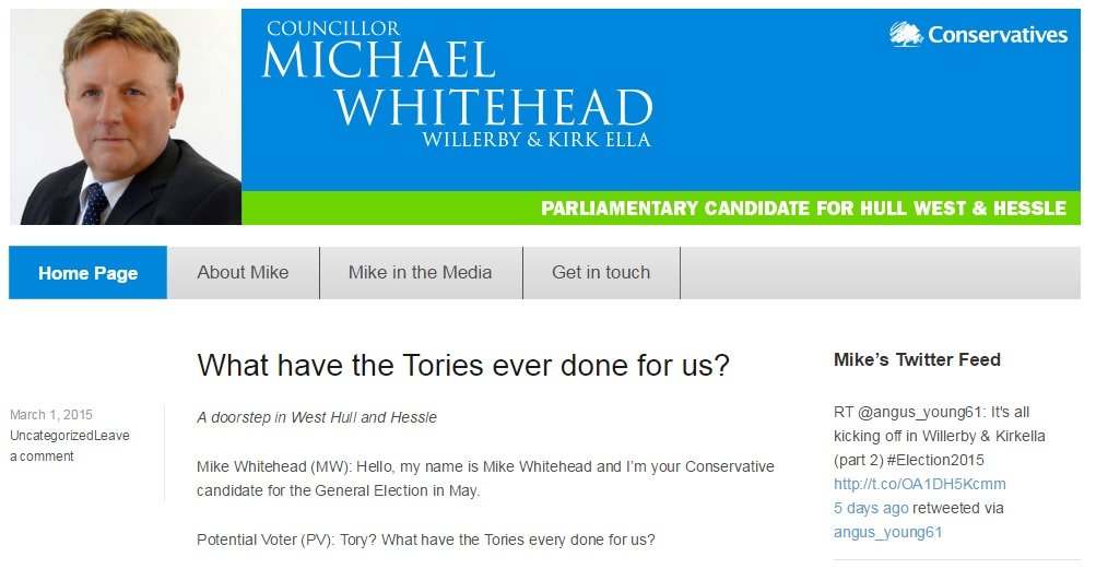 Mike Whitehead Conservative to UKIP defector website