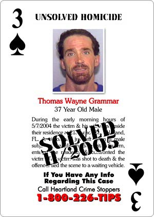 Unsolved homicides cards