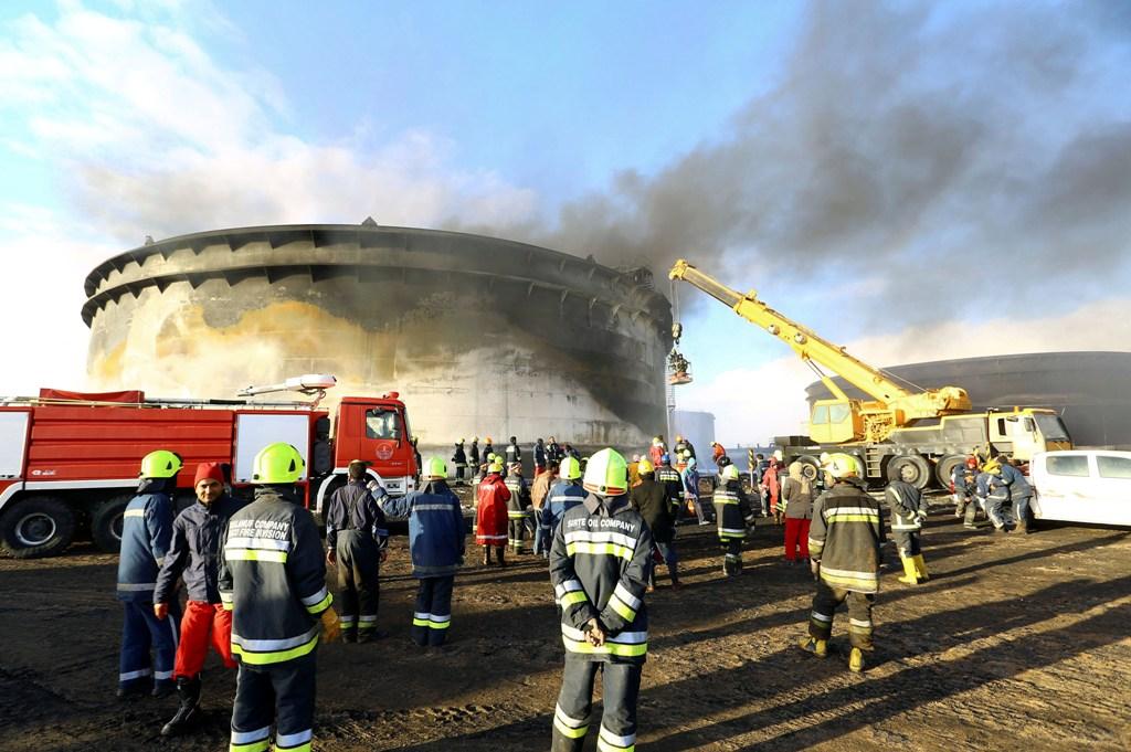 Libya Es Sider Port Fire