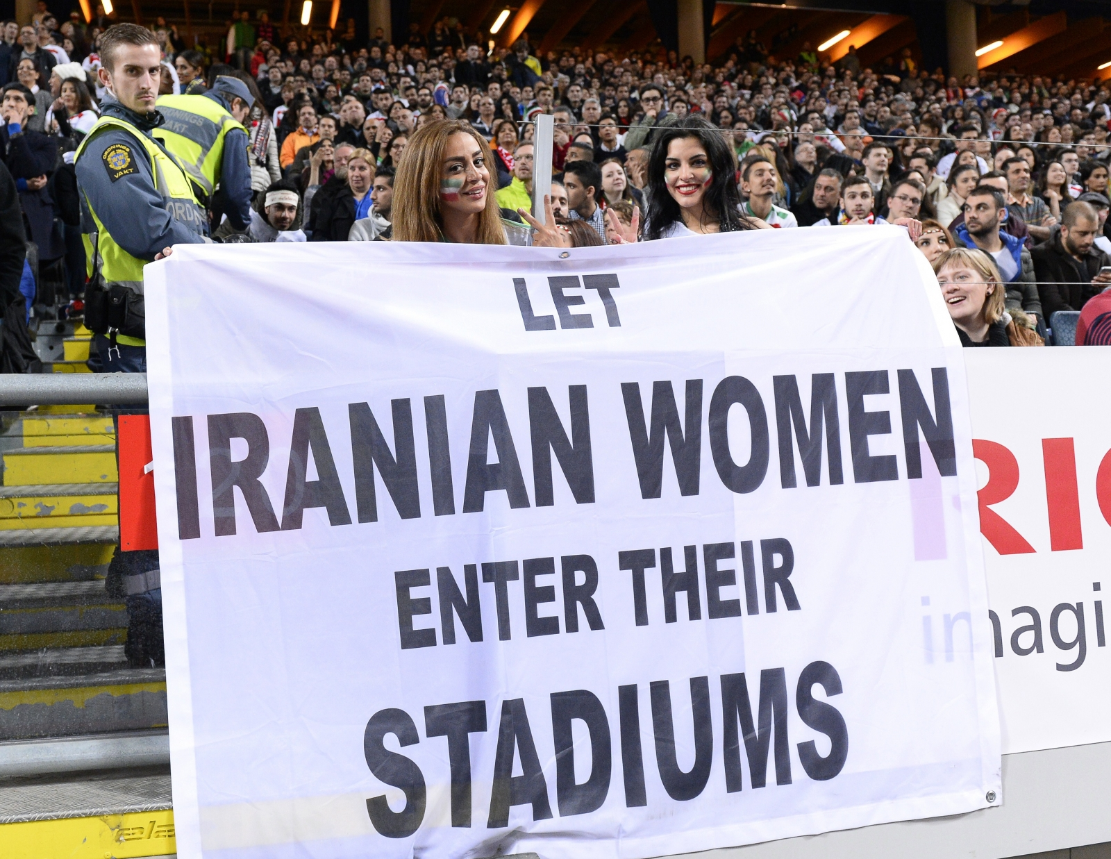Iran women stadium protest