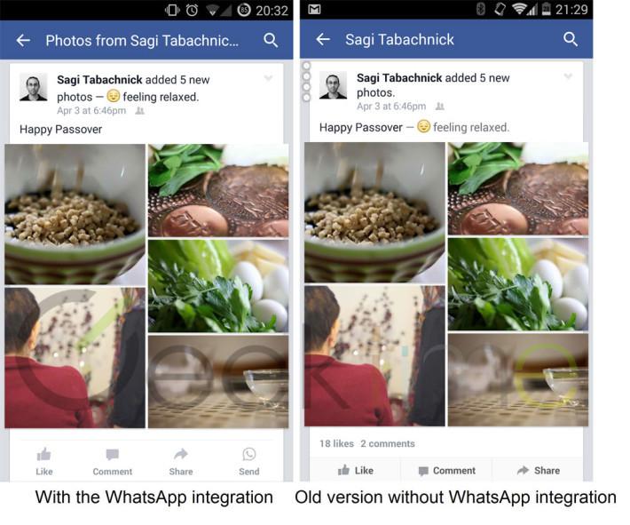 Facebook WhatsApp integration