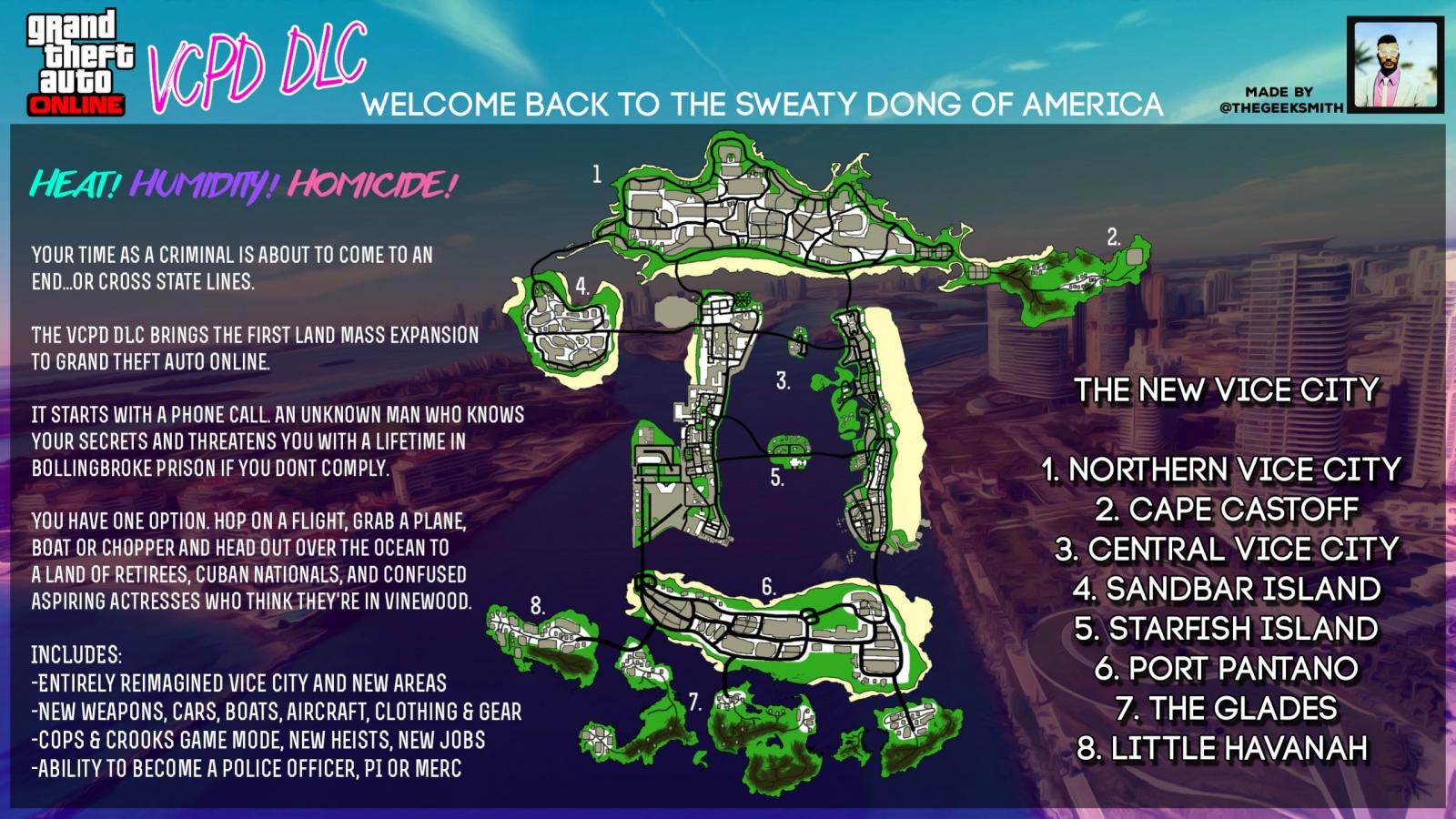 GTA 5 Vice City Online DLC concept