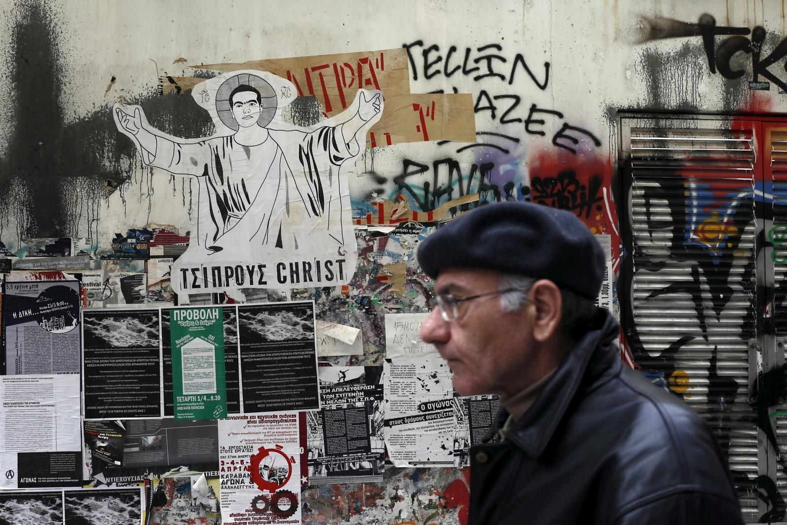 Tsipras drawing Athens