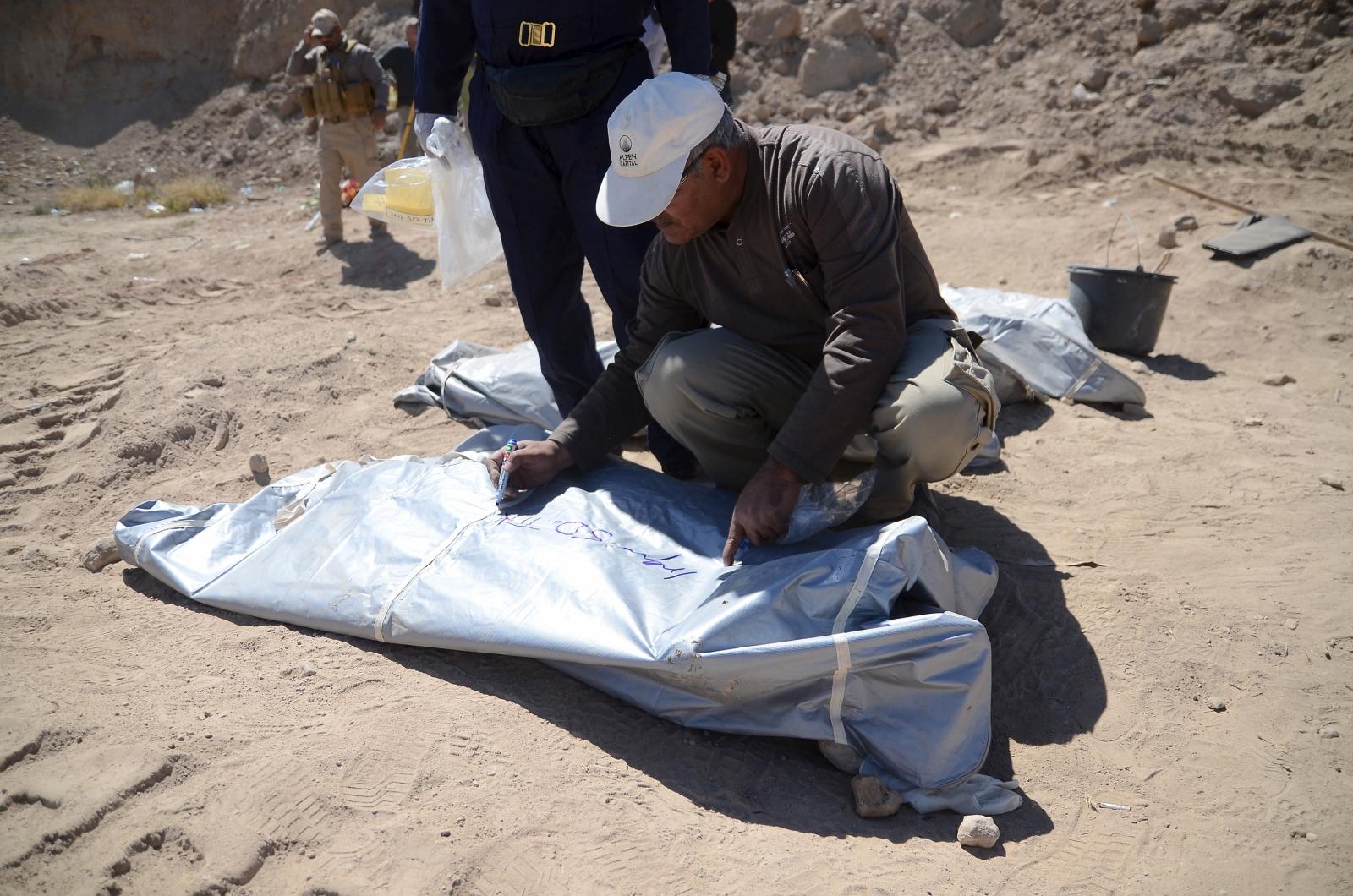 Mass grave Tikrit Saddam Hussein hometown