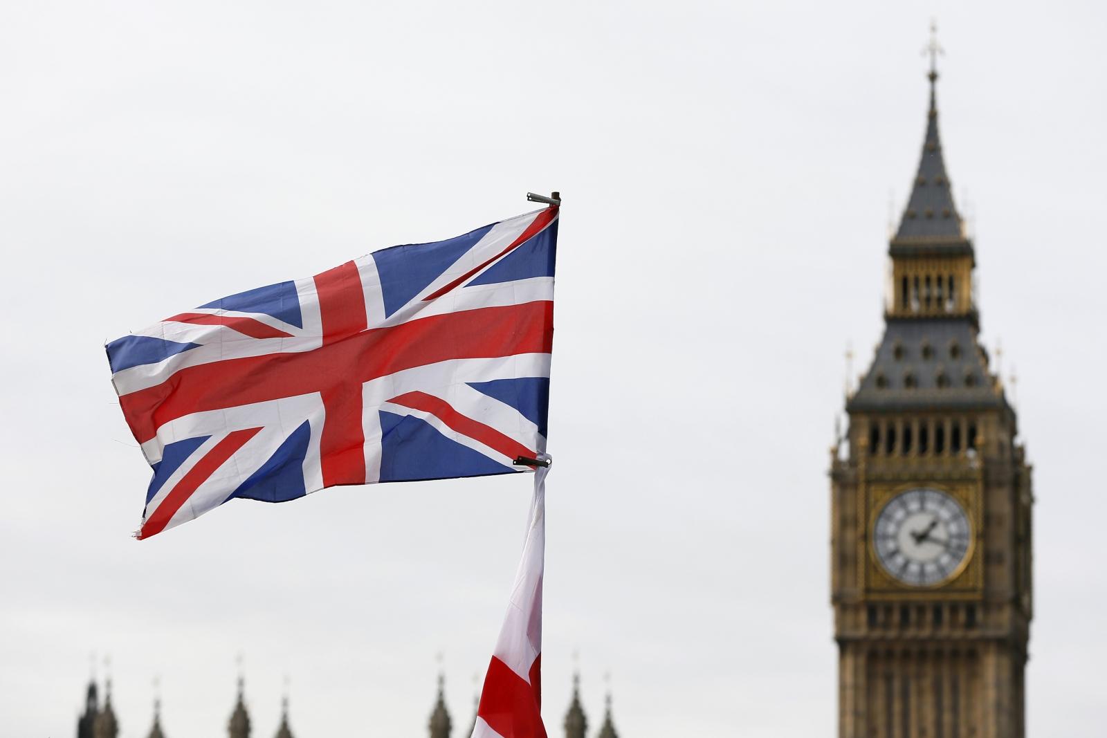 Union Jack Big Ben Houses of Parliament