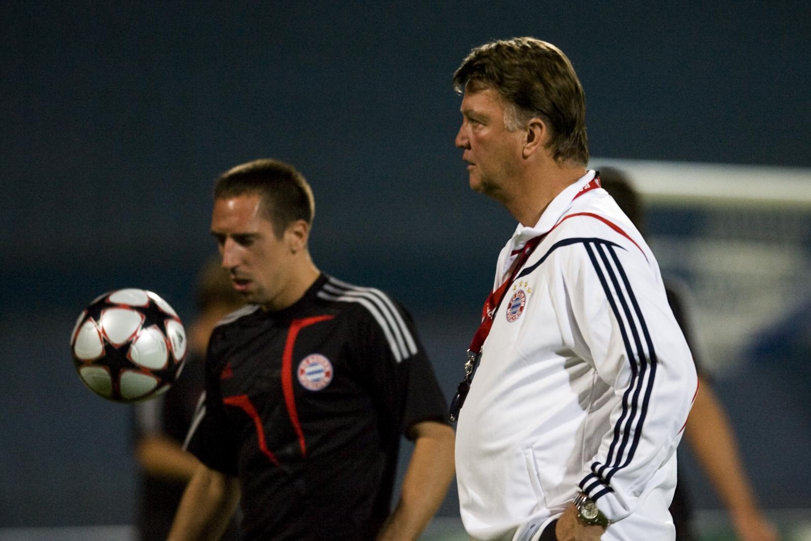 Frank Ribery and Louis van Gaal