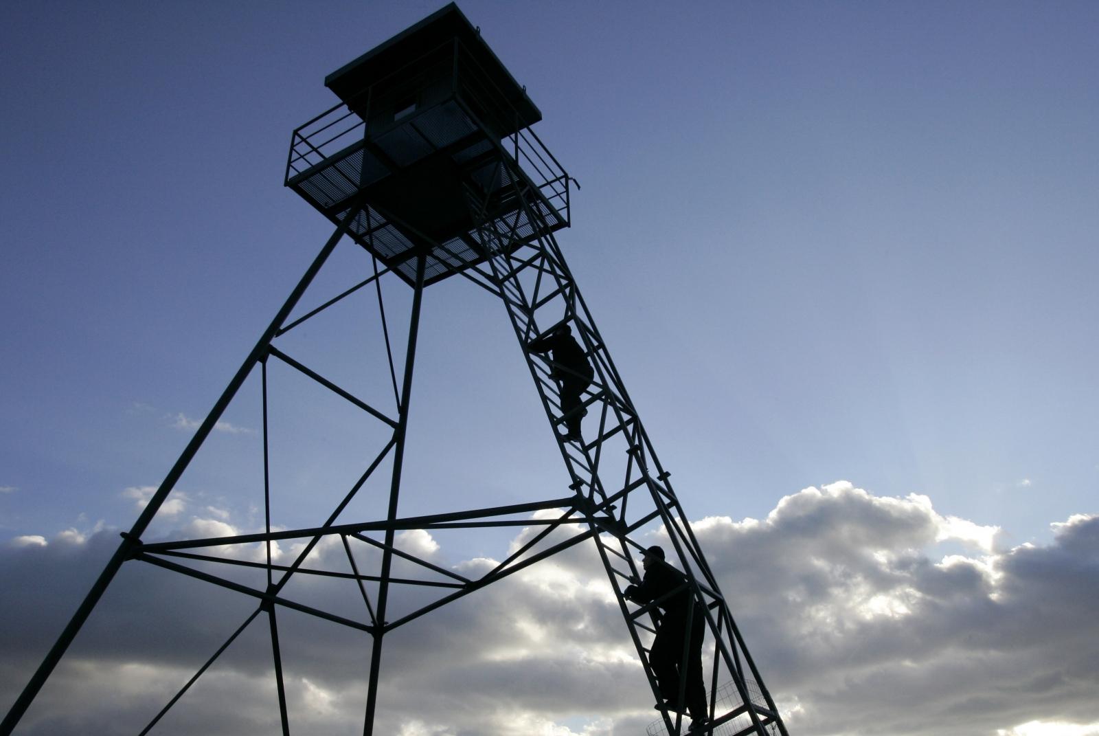Poland watchtowers Kaliningrad Russia military Nato