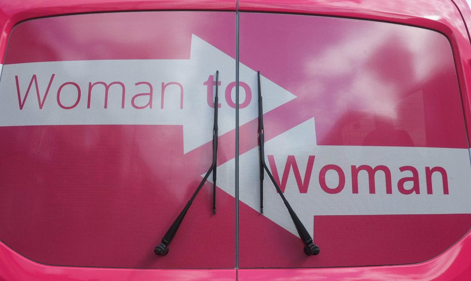 Labour pink bus