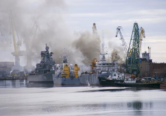 A Russian nuclear submarine