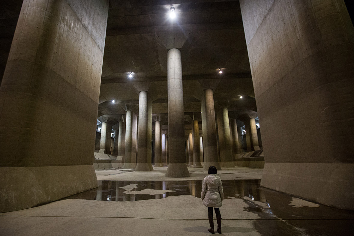 Japan: Inside the cavernous underground water tanks that