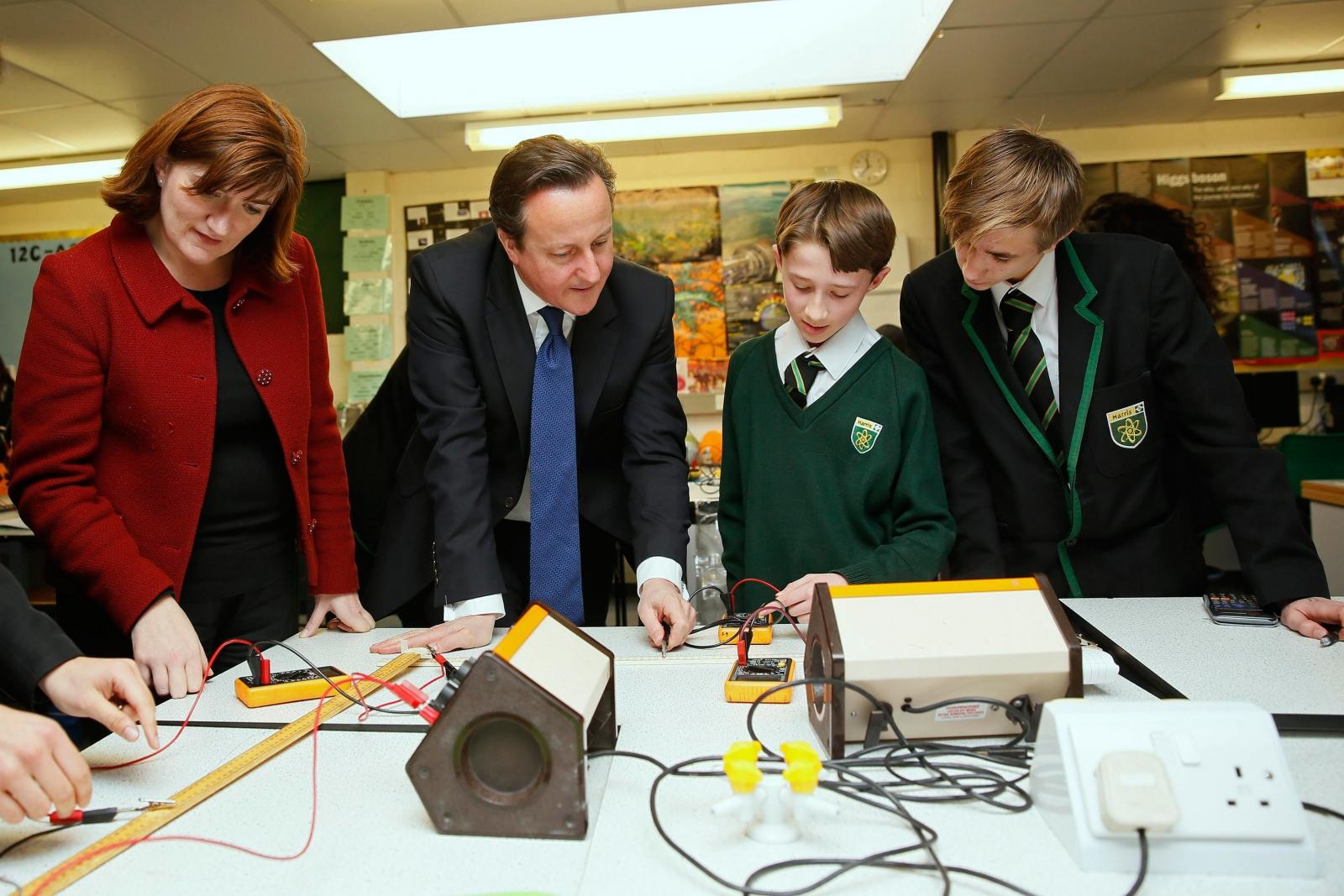 David Cameron and Nicky Morgan