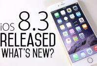 iOS 8.3 public release