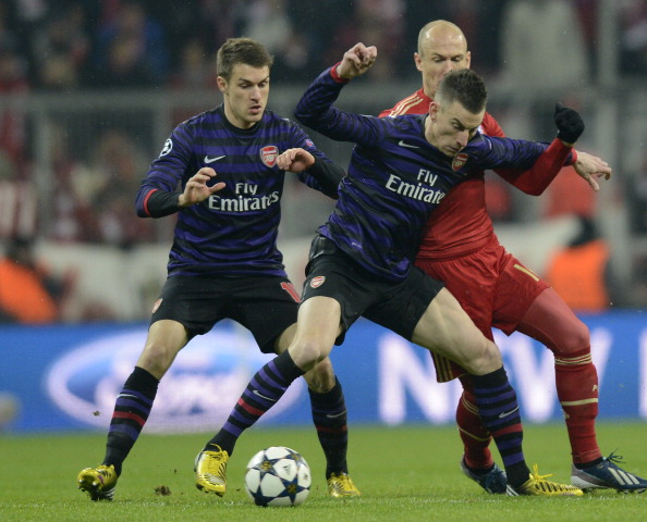 Laurent Koscielny and Aaron Ramsey