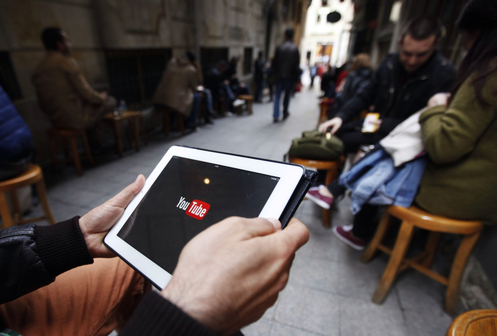 YouTube being viewed on a tablet