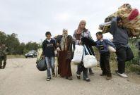 Syrian refugees Lebanon border
