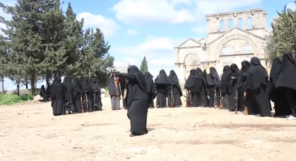 Female Jihadists training camp