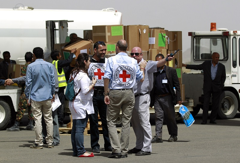 Red Cross aid arrives in Yemen