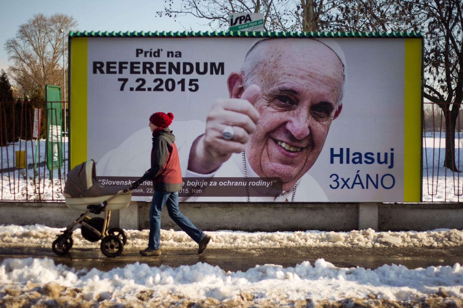 Pope Francis anti-gay marriage billboard