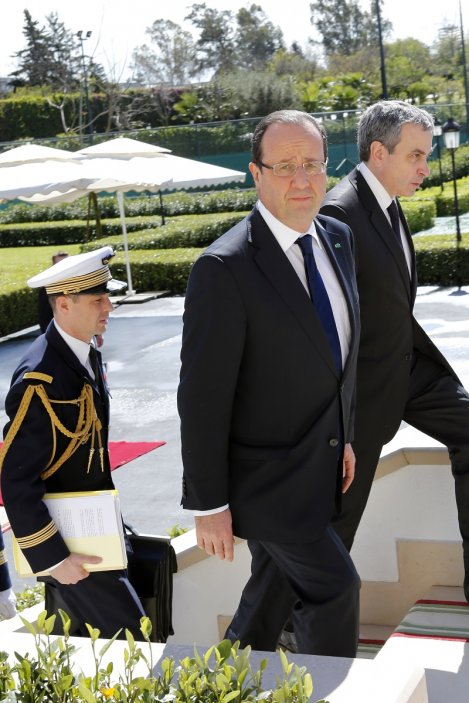 Francois Hollande and Laurent Stefanini