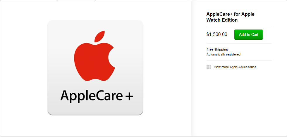 AppleCare  for Apple Watch Edition