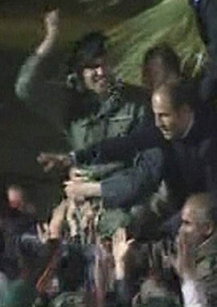 Still image from video of a man resembling Khamis Gaddafi, the son of Libyan leader Muammar Gaddafi