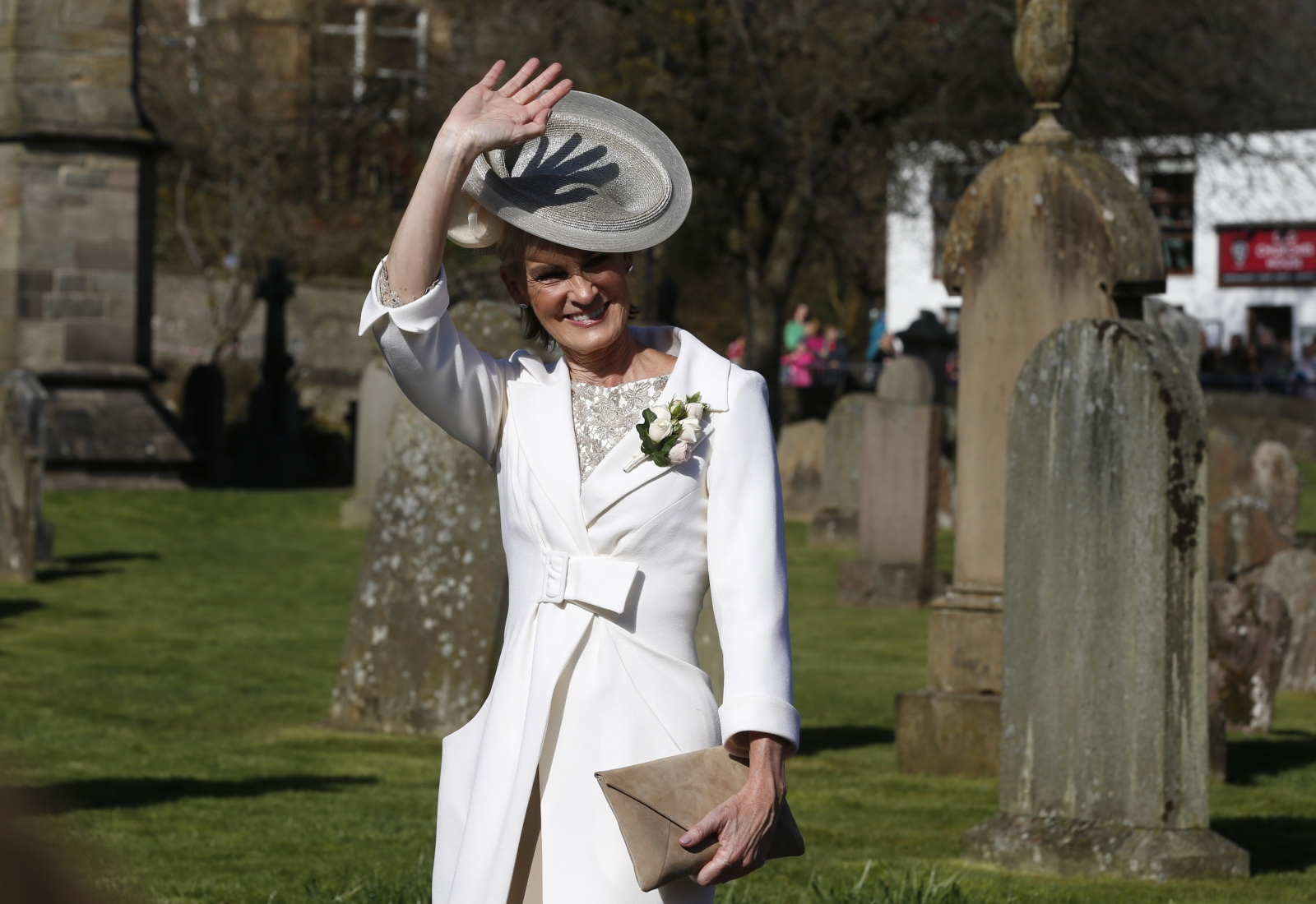 Judy Murray arrives for her son's wedding