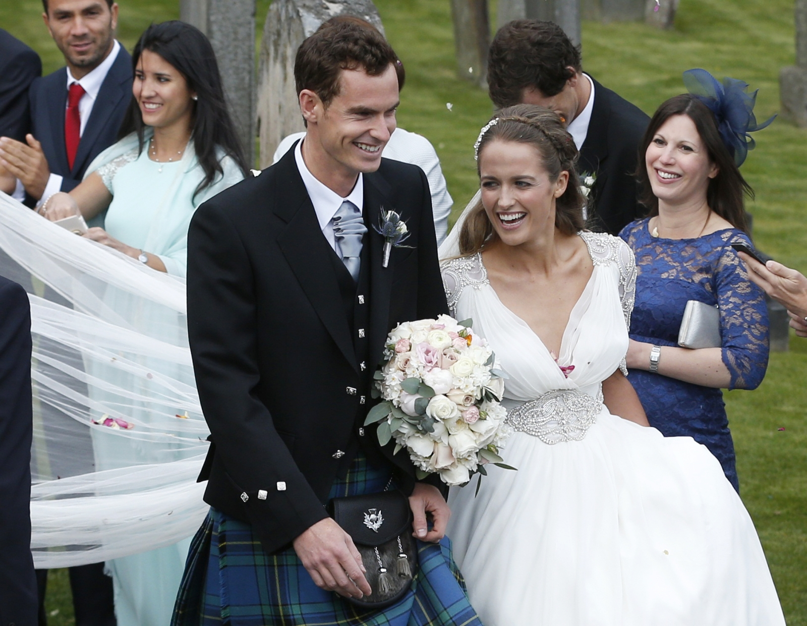 Andy Murray and Kim Sears get married