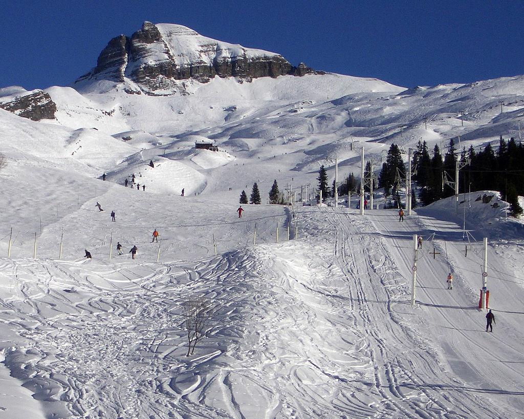 Flaine skiing Alps