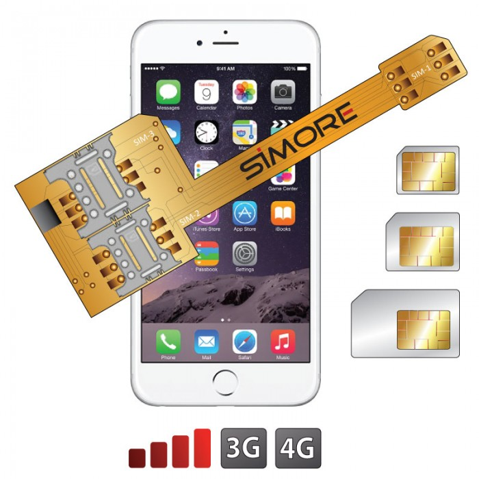 SIMore's X-Triple 6 multi-SIM adapter for iPhone6