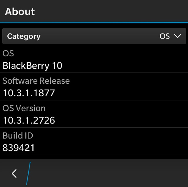 BlackBerry OS 10.3.1.2767