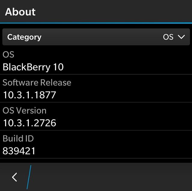 BlackBerry OS 10.3.1.2767