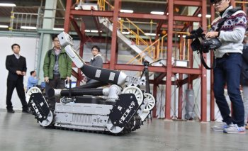 Hitachi GE's Sakura radiation hunting robot