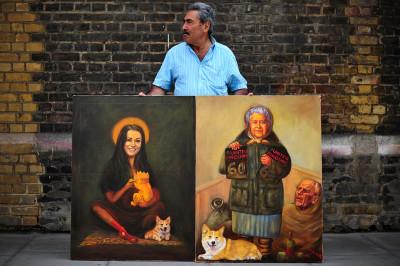 Kaya Mar satirical paintings