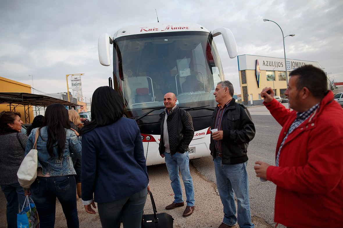 Spain caravan of women