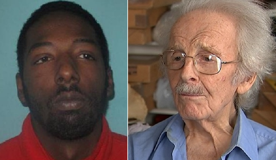 Solomon Bygraves (left) mugged Stanley Evans, 92