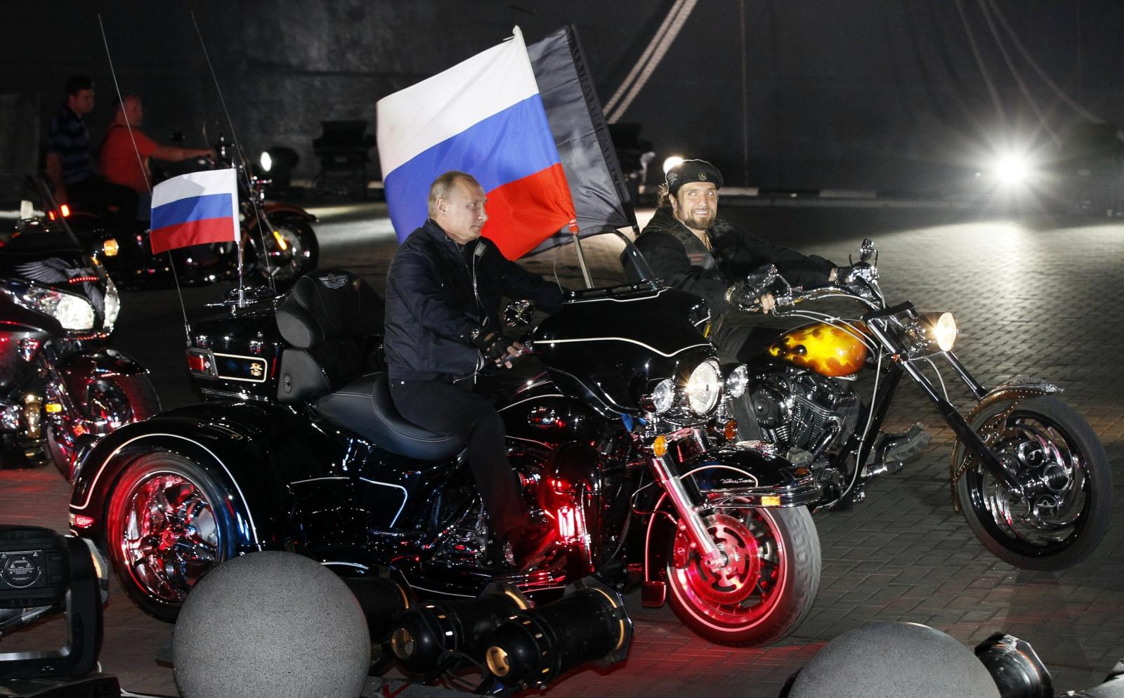 gang biker putin bikers wolves night angels kremlin