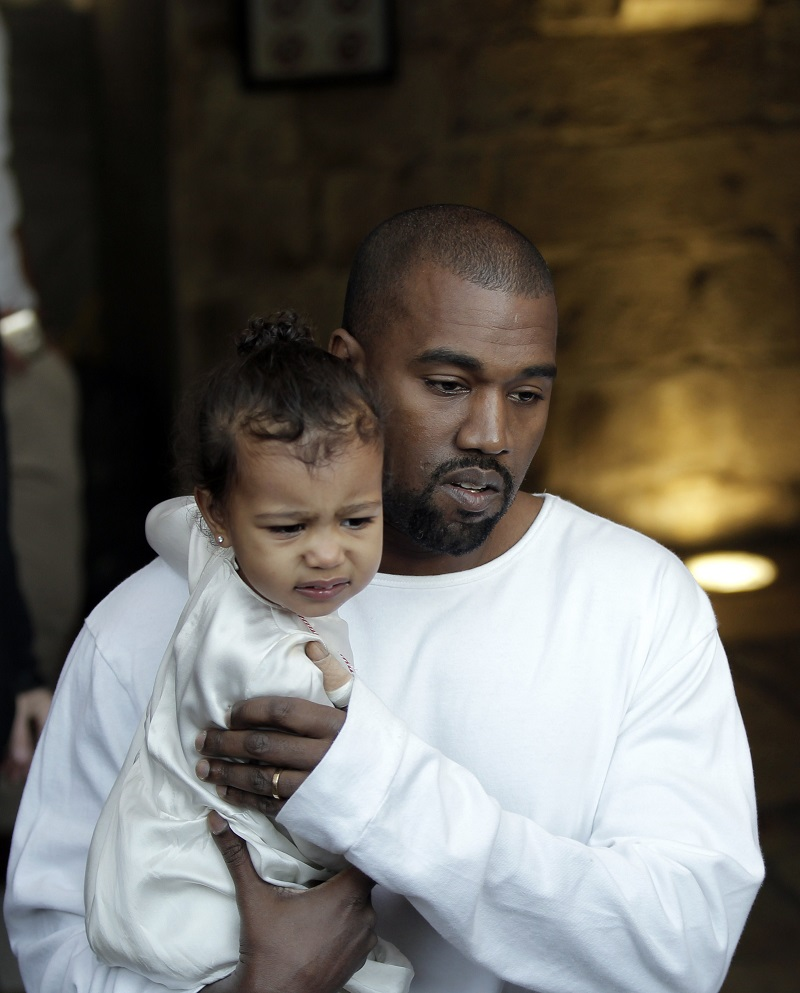 Kanye and North West in Jerusalem