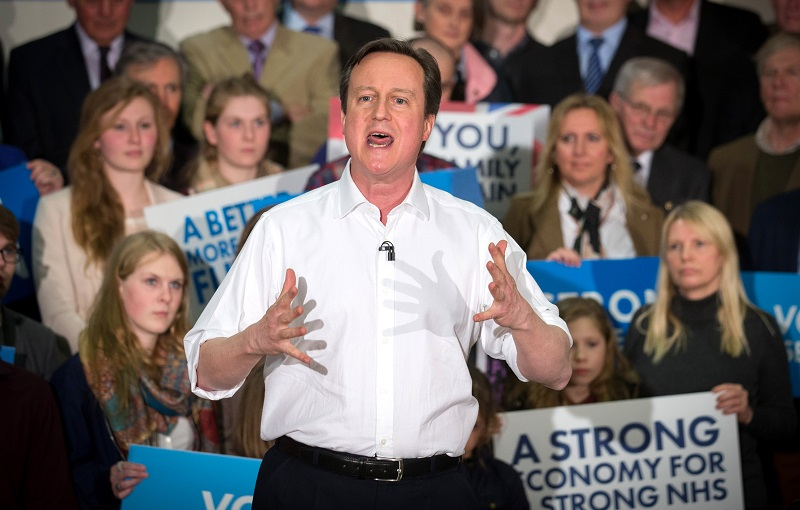 David Cameron campaigning in 2015