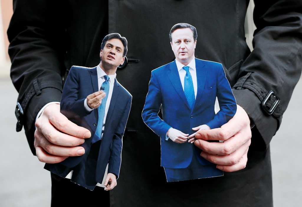 Miliband and Cameron Cardboard Cutouts