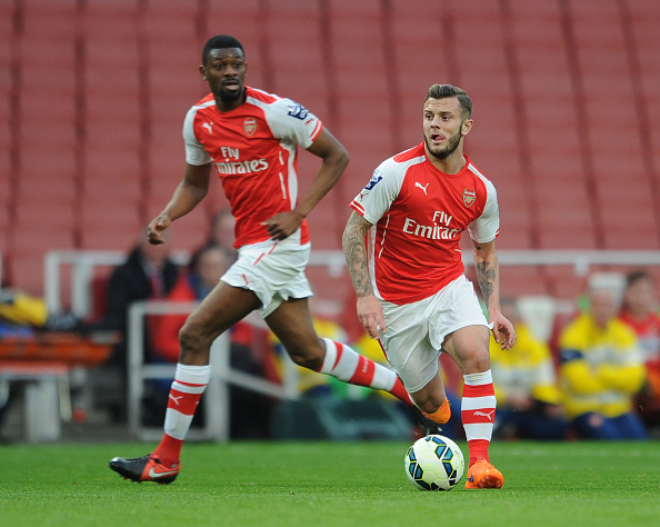 Jack Wilshere and Abou Diaby