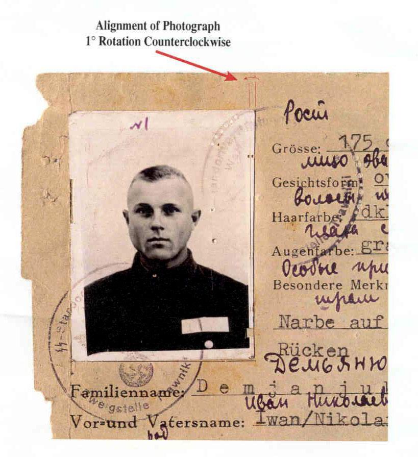 Wartime documents revealed that Demjanjuk