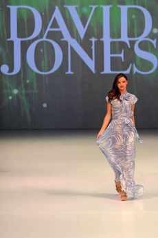 Miranda Kerr models for David Jones' Spring/ Summer Collection in Sydney
