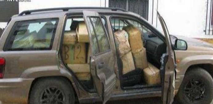 Car full of hash discovered by police