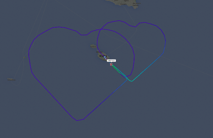 Air Malta heart flight